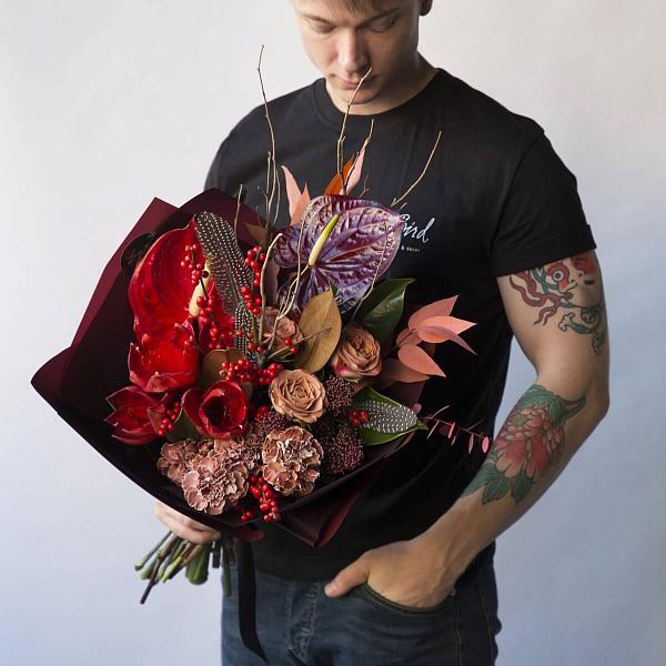 Букет из 17 цветов для мужчины